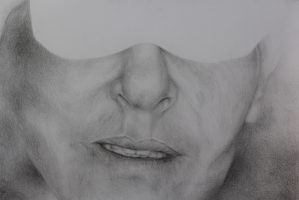 רישום בעיפרון- פרוטרט עצמי